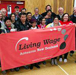 Group people Living Wage Aotearoa New Zealand