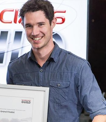 Craig Bright, Unitec student in Automotive Engineering and recent winner of the Australasian Holden Tech Guild Grand Final in Melbourne