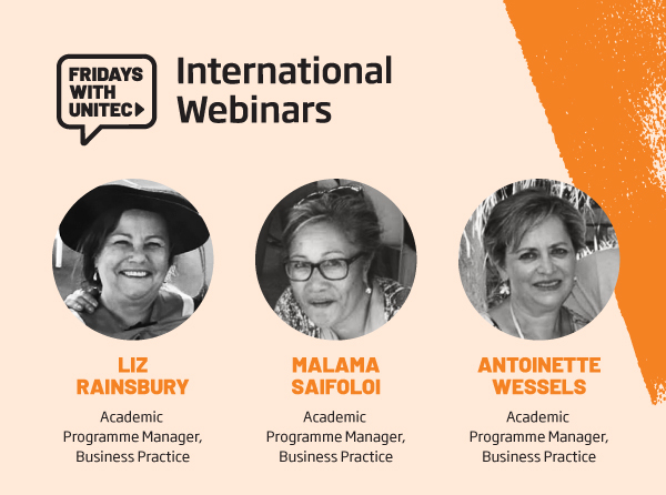 Unitec International COVID-19 Webinar - Applied Business