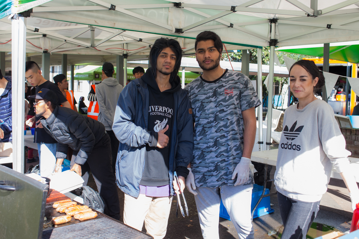 students sell on campus