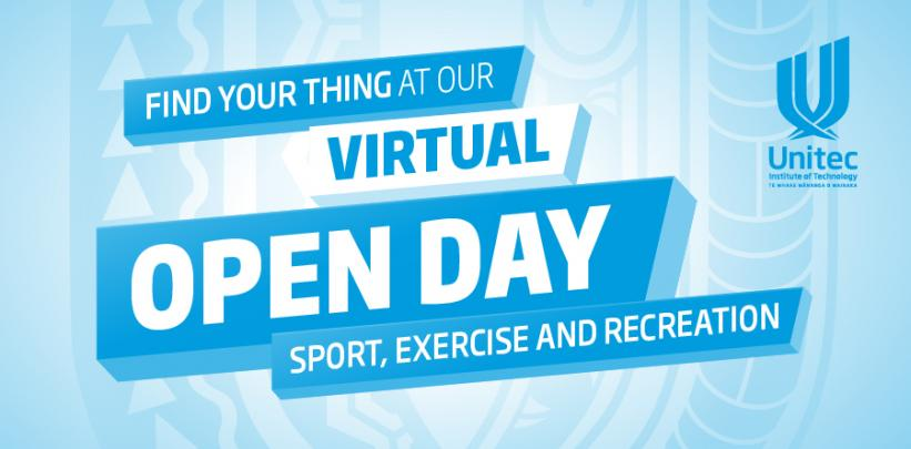 Sport, Exercise and Recreation - Virtual Open Day