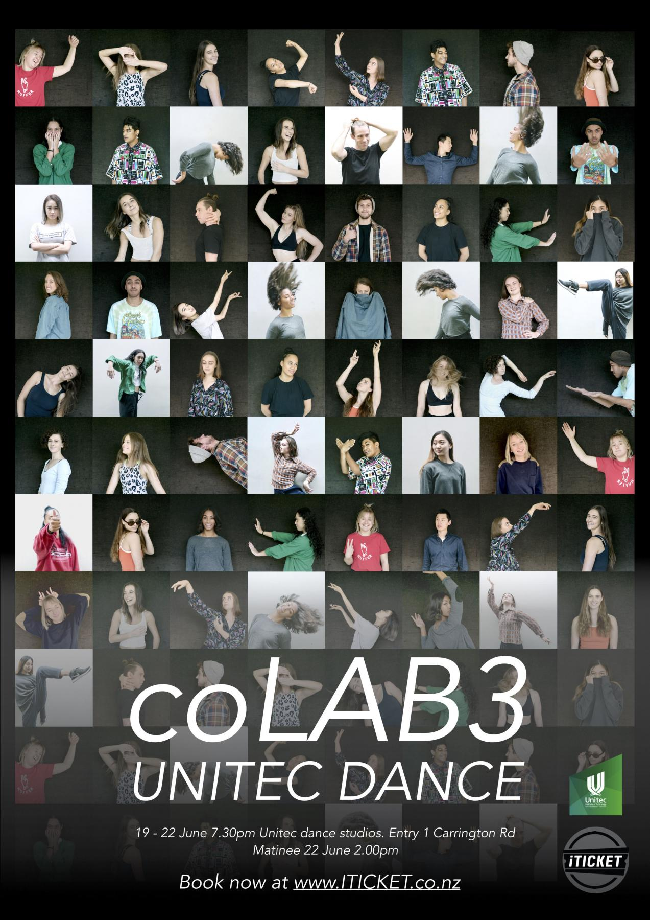Buy tickets to Unitec's coLAB 3 2019 dance performance at iTicket now