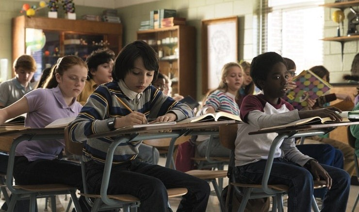 A classroom in Netflix's Stranger Things