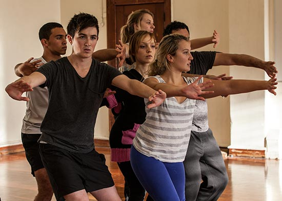 Unitec students in the dance studio