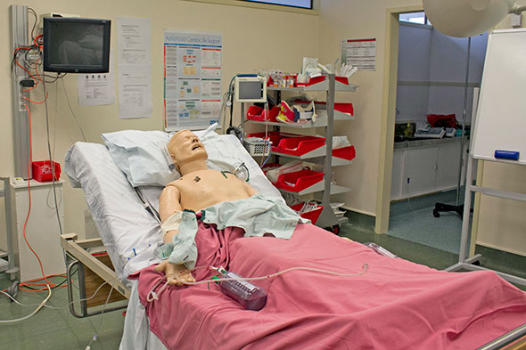 Simulation dummy at Awhina Health Campus