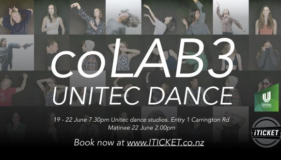Experience coLAB 3 from Unitec's Dance Department! Buy your tickets now at iTicket.